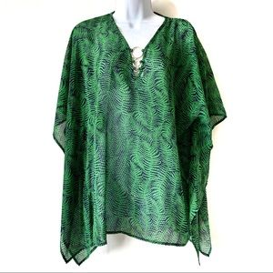 MICHAEL Kors Tropical Caftan Blouse Small/Medium